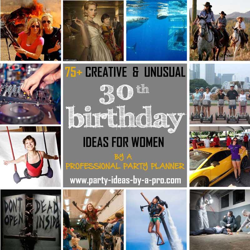 75 creative 30th birthday