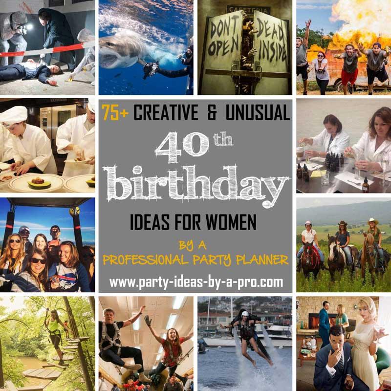 75 creative 40th birthday