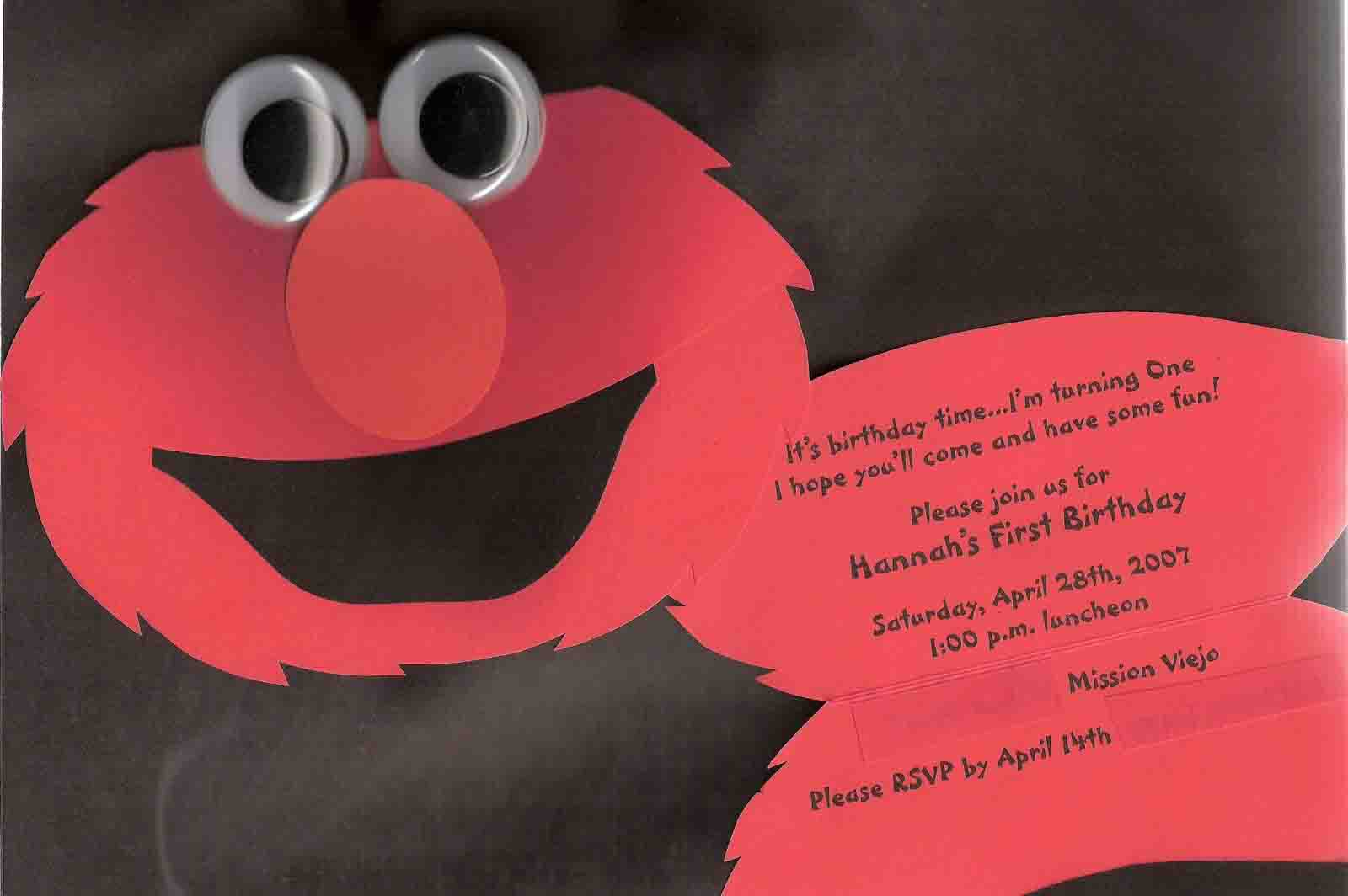 Sesame Street Invitation Wording