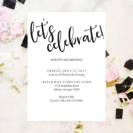 100 birthday invitation ideas