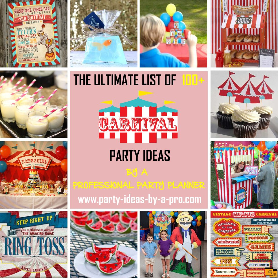 Ultimate List 100 Carnival Theme Party Ideas—by A Professional