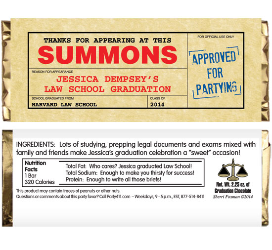 Graduation Law School Subpoena Custom