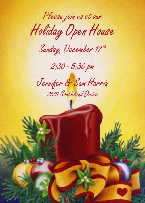 Christmas Candle. (invite-tis50). Order This Invitation