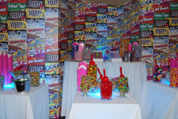 Custom Foamcore Background Candy Buffet Party411