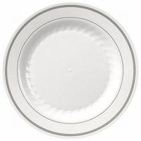 Masterpiece White Silver Trim Premium 9-inch Plastic ...