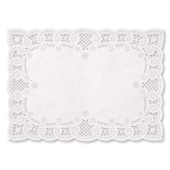 paper lace placemats white