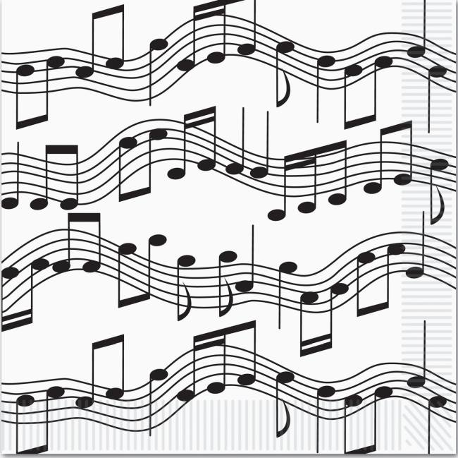 Musical Notes Lunch Napkins: Musical