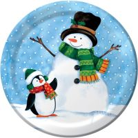 Penguin Pal 9-inch Plates: Christmas Closeouts