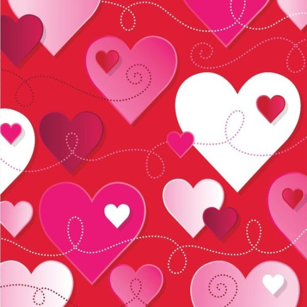 Hearts and Swirls Lunch Napkins Hearts and Swirls