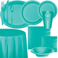 Teal Lagoon Paper and Plastic Dinnerware: Party at Lewis
