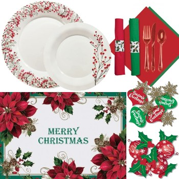 Holiday Plastic Dinnerware & Tableware: Party at Lewis