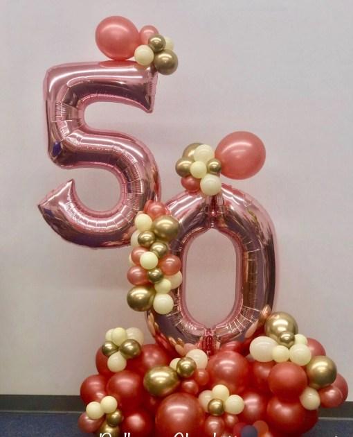 birthday number bouquet