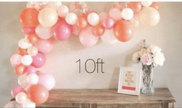 balloon garland organic 10ft