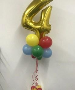 Number Balloon centerpiece