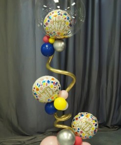 BIRTHDAY BUBBLE BALLOON ARRANGEMENT