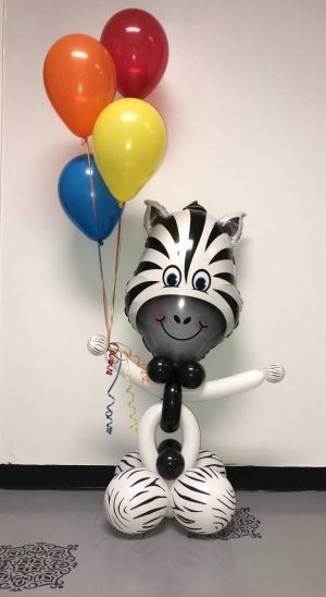 Zany Zebra Animal Balloon
