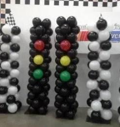 Stop light Balloon columns