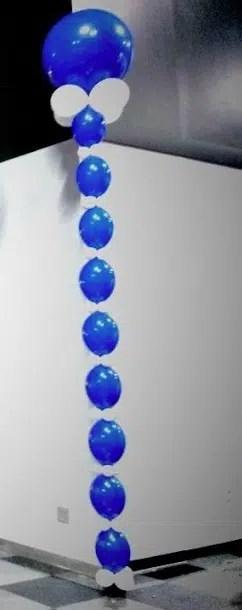 Balloon column linked