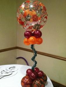 Autumn Leaves Balloon table centerpiece