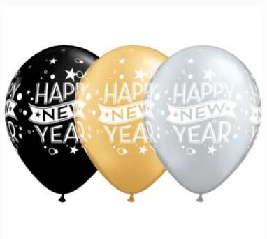 new years latex balloons