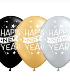 new years latex balloons