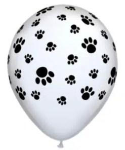 Paw print latex balloons