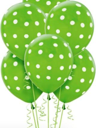 Kiwi Green Dots Latex