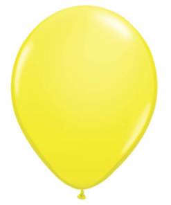 yellow latex balloon