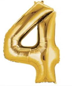 number balloon 4 gold