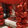 PARTY BALLOONSBYQ 88B8713C-0005-417D-8255-AE9A3F4D6303-e1611862387340 Red Heart Room Set up