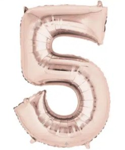 Number Balloon 5 Rose Gold