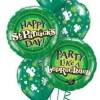 PARTY BALLOONSBYQ ST-PATRICKS-DAY-BOUQUET Safari Green Balloon Garland