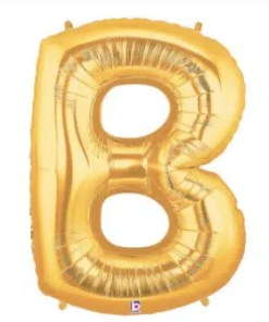 Letter Balloon B Gold