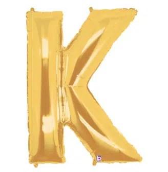 Letter Balloon K Gold