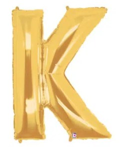 Letter Balloon K Gold