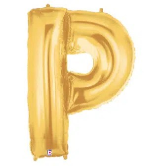 Letter Balloon P Gold
