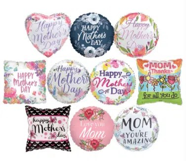 mothers day mylar balloons