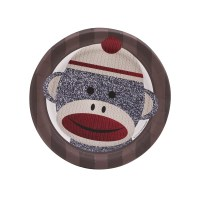Sock Monkey Red Dessert Plates