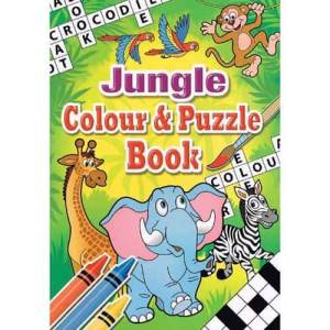 Colouring Puzzle Book