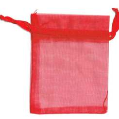 Red Organza Bags - 7cm x 5cm - Gift Bags