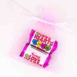 Organza Pink Love Hearts