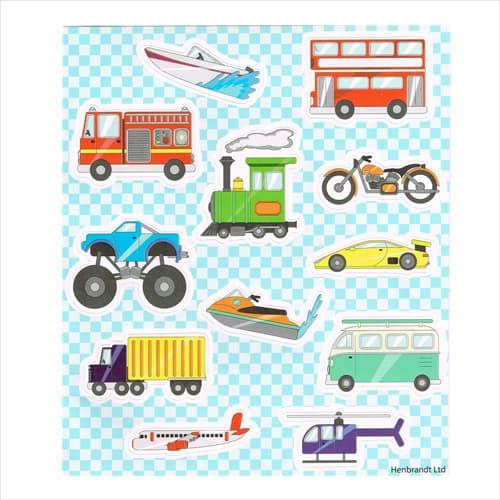 Transport Sticker Sheets