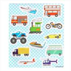 Transport Sticker Sheets