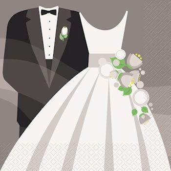 Servietter til bryllup  servietter til bryllup