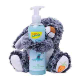 Bubbly Bubbles Geschenk knuffelkonijn handzeep blauw