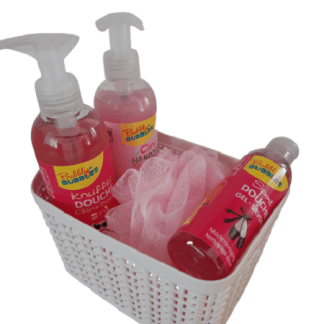 Bubbly Bubbles Geschenkmand Roze