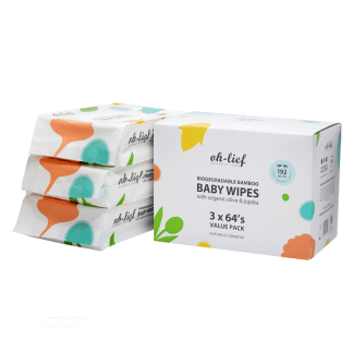 Oh-lief Baby Wipes 3-pack