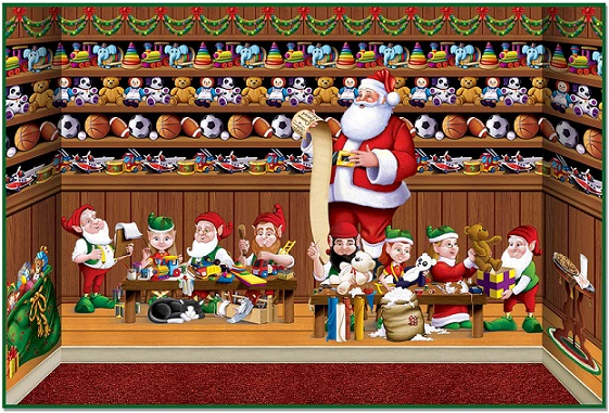 Image result for image of santa's workshop