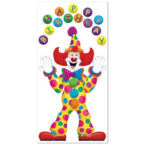 Birthday Clown Door Cover