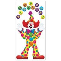 Birthday Clown Door Cover - PartyCheap